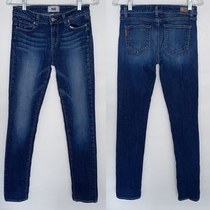 Paige Peg Skinny Medium Rinse Denim